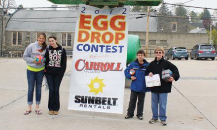 Three Students Win Carroll Magazine's Egg Drop Contest