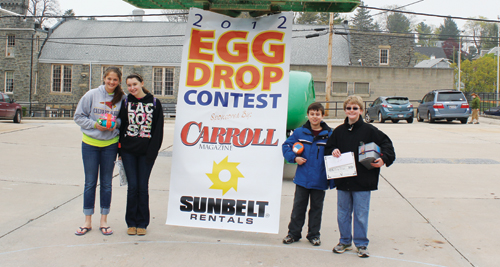 Three Students Win Carroll Magazine's Egg Drop Contest