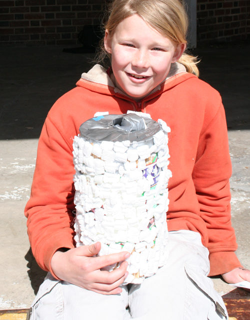Nine-Year Old Wins First Egg-Drop Event