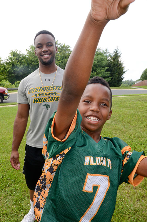 Chris Parker with his younger brother, Xavier Terrell.