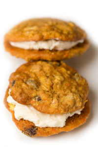 Carrot Cake Cookies with Cream-Cheese Filling