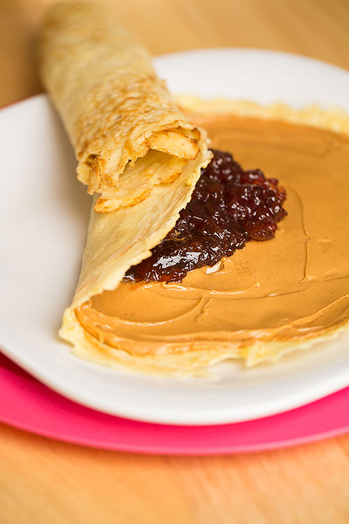 Crêpe Peanut Butter and Jelly Sandwiches