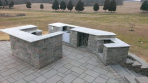 Construction of the Dicocco's outdoor kitchen.
