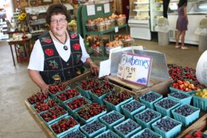 Marjorie Baugher at Baugher's Orchard.