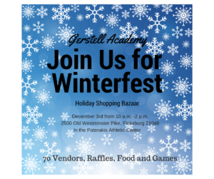 Gerstell Academy's Winterfest Shopping Bazaar @ Gerstell Academy Paterakis Athletic Center