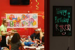 The birthday area at Stratosphere.