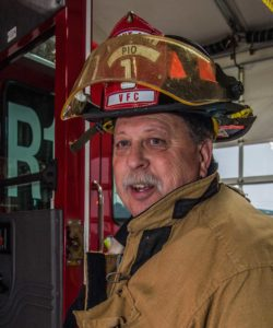 Mount Airy 48-year veteran firefighter Doug Alexander finds that it gets more difficult each year to find members to get the apparatus on the street.