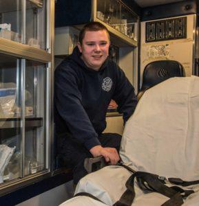 Westminster volunteer EMT Gunnar Mohlhenrich.