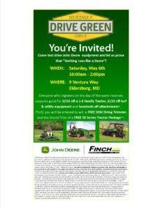 FINCH SERVICES DRIVE GREEN EVENT @ Finch Services Eldersburg | Sykesville | Maryland | United States