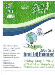 LifePoint Church Golf Tournament to Support the Westminster Rescue Mission @ The Links at Gettysburg |  |  |