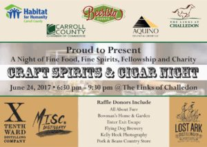 Craft Spirits and Cigar Night for Habitat for Humanity Carroll County @ Links at Challedon |  |  |
