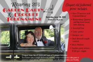 Roaring 20's Garden Party and Croquet Tournament @ The Carroll County Farm Museum |  |  |